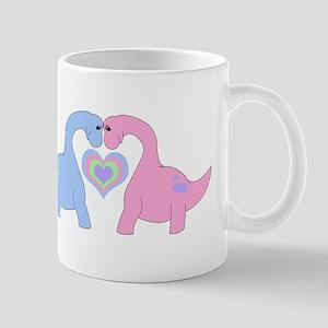 Adoring Apatosaurus Mugs