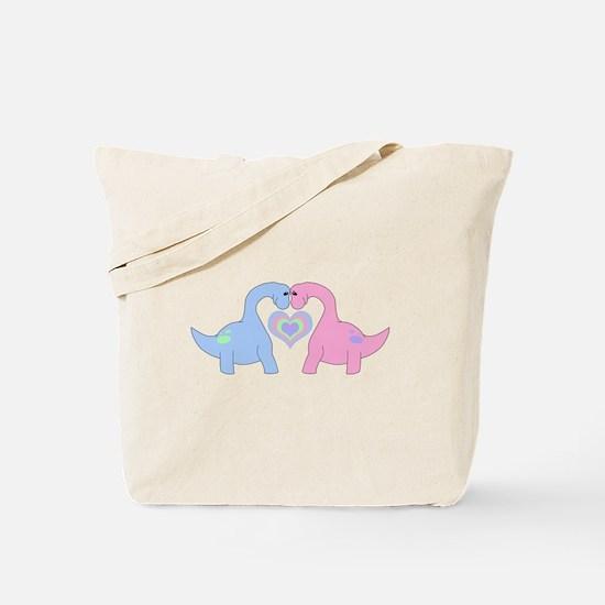 Adoring Apatosaurus Tote Bag