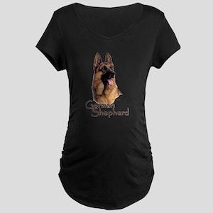 German Shepherd Dog-1 Maternity Dark T-Shirt