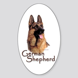 German Shepherd Dog-1 Oval Sticker