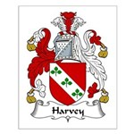 Harvey Family Crest Small Poster