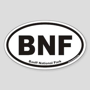 Banff National Park BNF Euro Oval Sticker