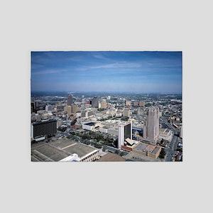San Antonio Texas Skyline 5'x7'Area Rug