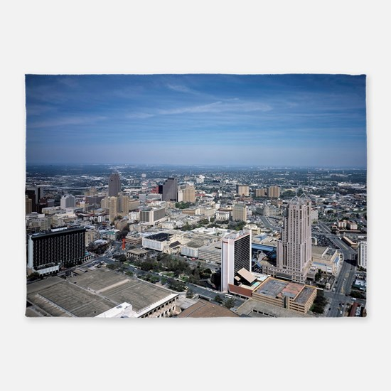 San Antonio Texas Skyline 5'x7'Area Rug