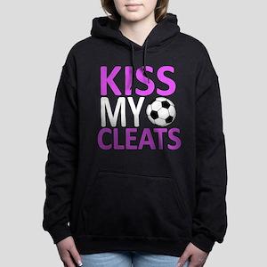 Kiss My Cleats Women's Hooded Sweatshirt