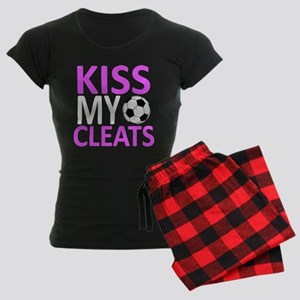 Kiss My Cleats Women's Dark Pajamas