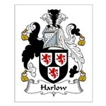 Harlow Family Crest Small Poster