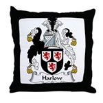 Harlow Family Crest Throw Pillow