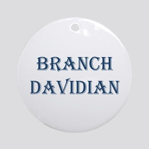 Branch Davidian Ornament (Round)