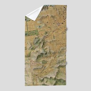 Vintage Map of San Francisco (1915) Beach Towel
