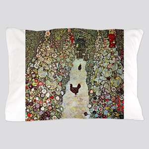 Garden Path with Chickens by Klimt Pillow Case