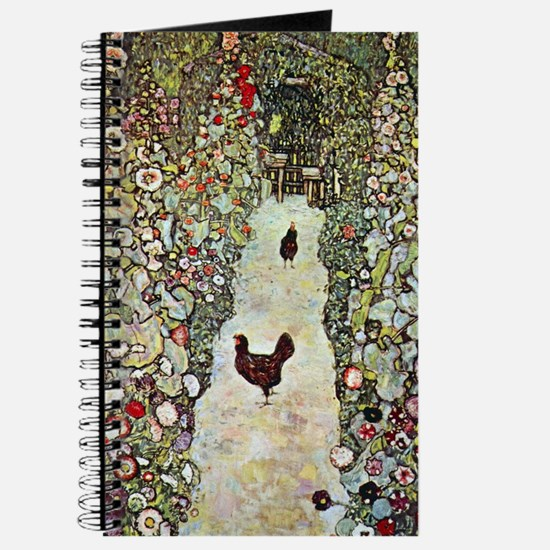 Garden Path with Chickens by Klimt Journal