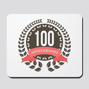 100 Years Anniversary Laurel Badge Mousepad
