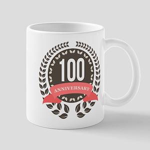100 Years Anniversary Laurel Badge Mug