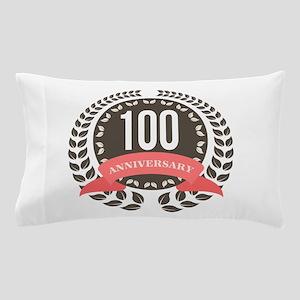 100 Years Anniversary Laurel Badge Pillow Case