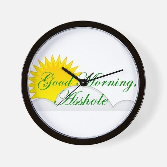 Good Morning, Asshole Wall Clock