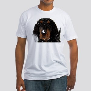 Gordon Setter Pup: Fun in the Snow Fitted T-Shirt