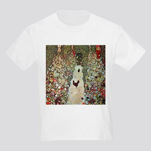 Garden Path with Chickens by Klimt T-Shirt