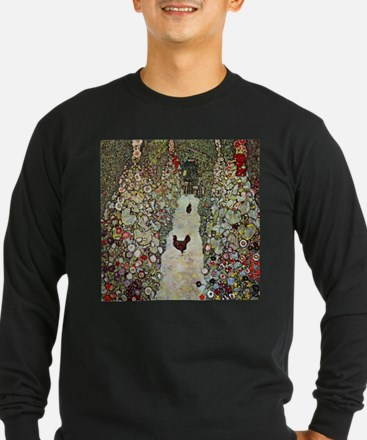 Garden Path with Chickens by K Long Sleeve T-Shirt