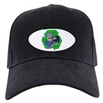 Reduce Reuse Recycle Earth Black Cap