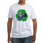 Reduce Reuse Recycle Earth Fitted T-Shirt