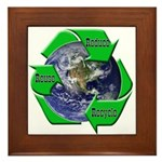 Reduce Reuse Recycle Earth Framed Tile
