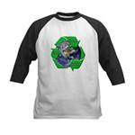 Reduce Reuse Recycle Earth Kids Baseball Jersey