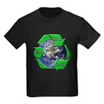 Reduce Reuse Recycle Earth Kids Dark T-Shirt