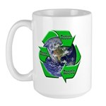 Reduce Reuse Recycle Earth Large Mug