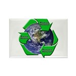 Reduce Reuse Recycle Earth Rectangle Magnet (10 pa