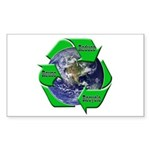 Reduce Reuse Recycle Earth Rectangle Sticker
