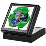 Reduce Reuse Recycle Earth Keepsake Box