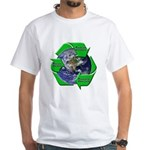 Reduce Reuse Recycle Earth White T-Shirt