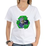 Reduce Reuse Recycle Earth Women's V-Neck T-Shirt
