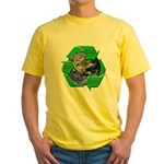 Reduce Reuse Recycle Earth Yellow T-Shirt