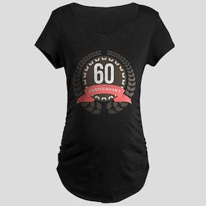 60 Years Anniversary Laurel Maternity Dark T-Shirt