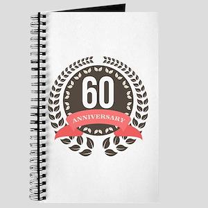 60 Years Anniversary Laurel Badge Journal