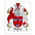 Haines Family Crest Small Poster