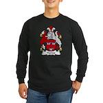 Haines Family Crest Long Sleeve Dark T-Shirt
