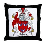 Haines Family Crest Throw Pillow