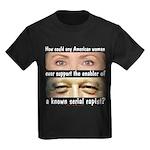 Anti-Hillary Rape Enabler Kids Dark T-Shirt