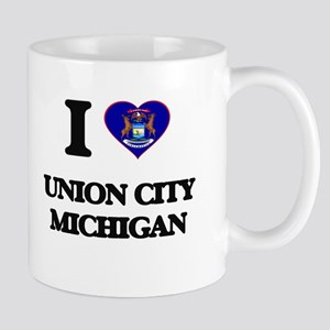 I love Union City Michigan Mugs