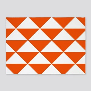Edgy Orange Triangles 5'x7'Area Rug