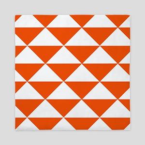 Edgy Orange Triangles Queen Duvet