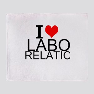 I Love Labor Relations Throw Blanket