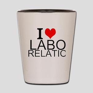 I Love Labor Relations Shot Glass
