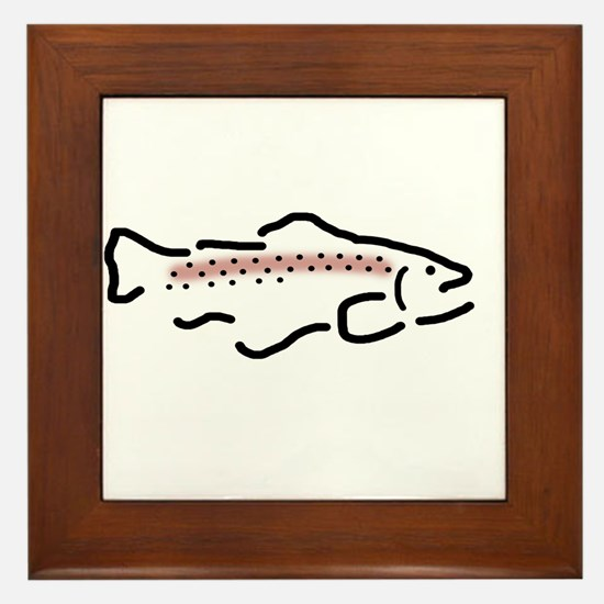 Rainbow Trout Framed Tile