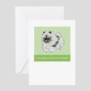 Keeshond Congratulations Greeting Card
