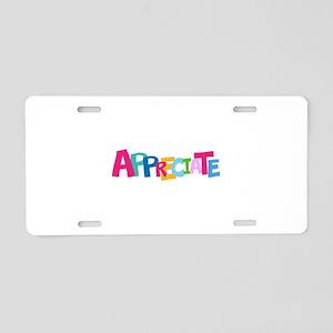 Colorful APPRECIATE Positive Text Aluminum License