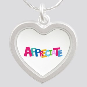 Colorful APPRECIATE Positive Text Necklaces